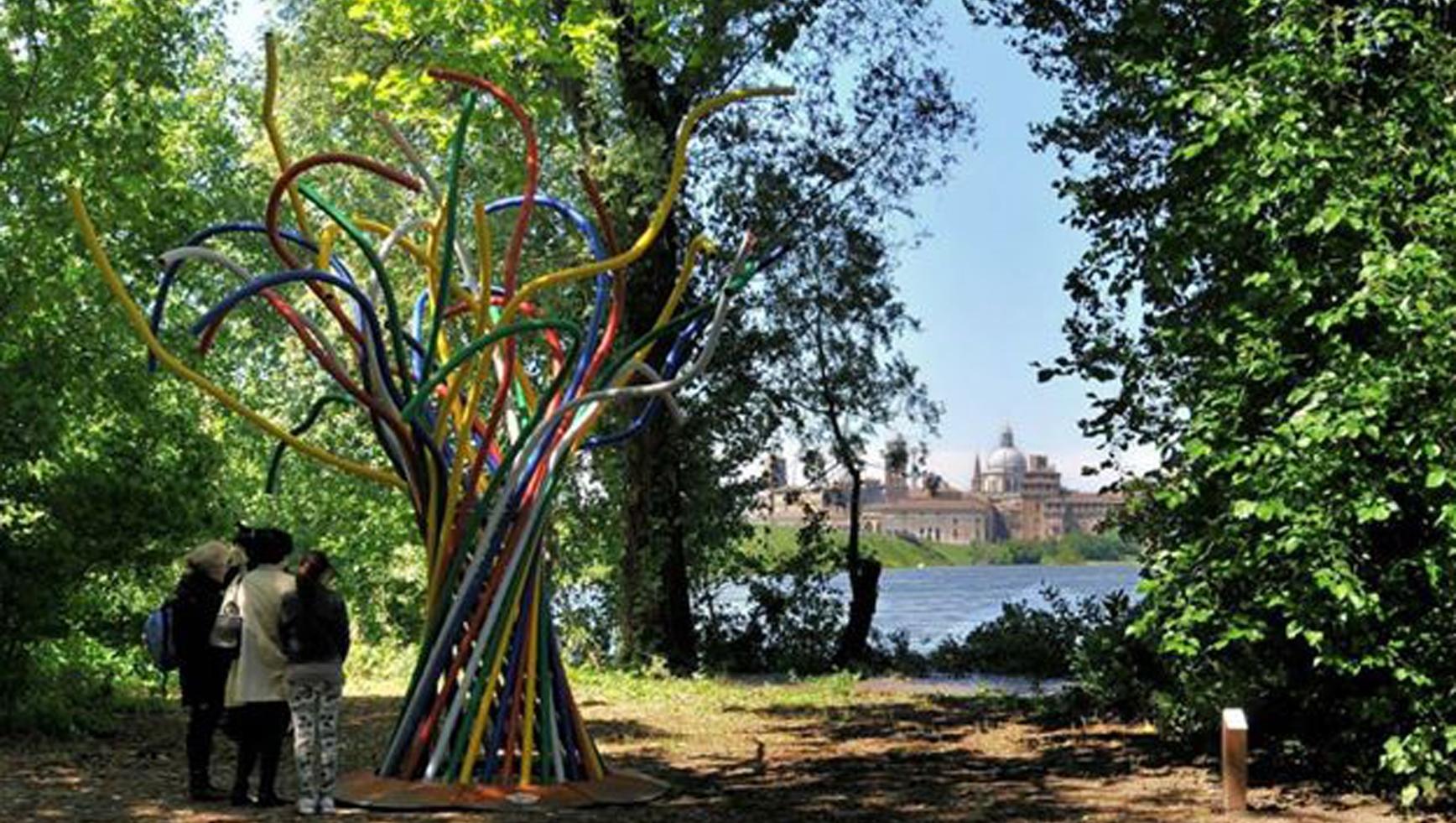 Una scultura per il parco dell'Arte a Mantova