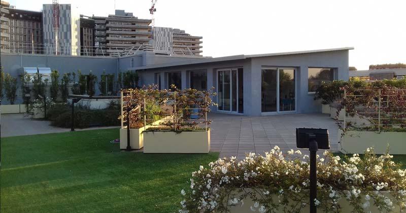Il giardino della sport therapy una palestra sul tetto for Piani della casa sul tetto