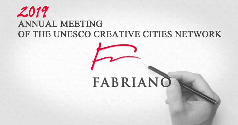 Un logo per l'evento UNESCO Creative Cities Network - XIIIth Annual Meeting - FABRIANO 2019