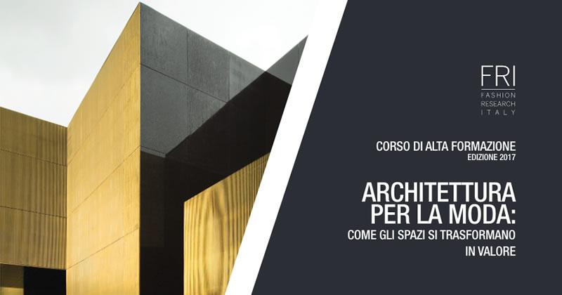 Architettura per la moda al via a bologna il corso di for Architettura e design roma