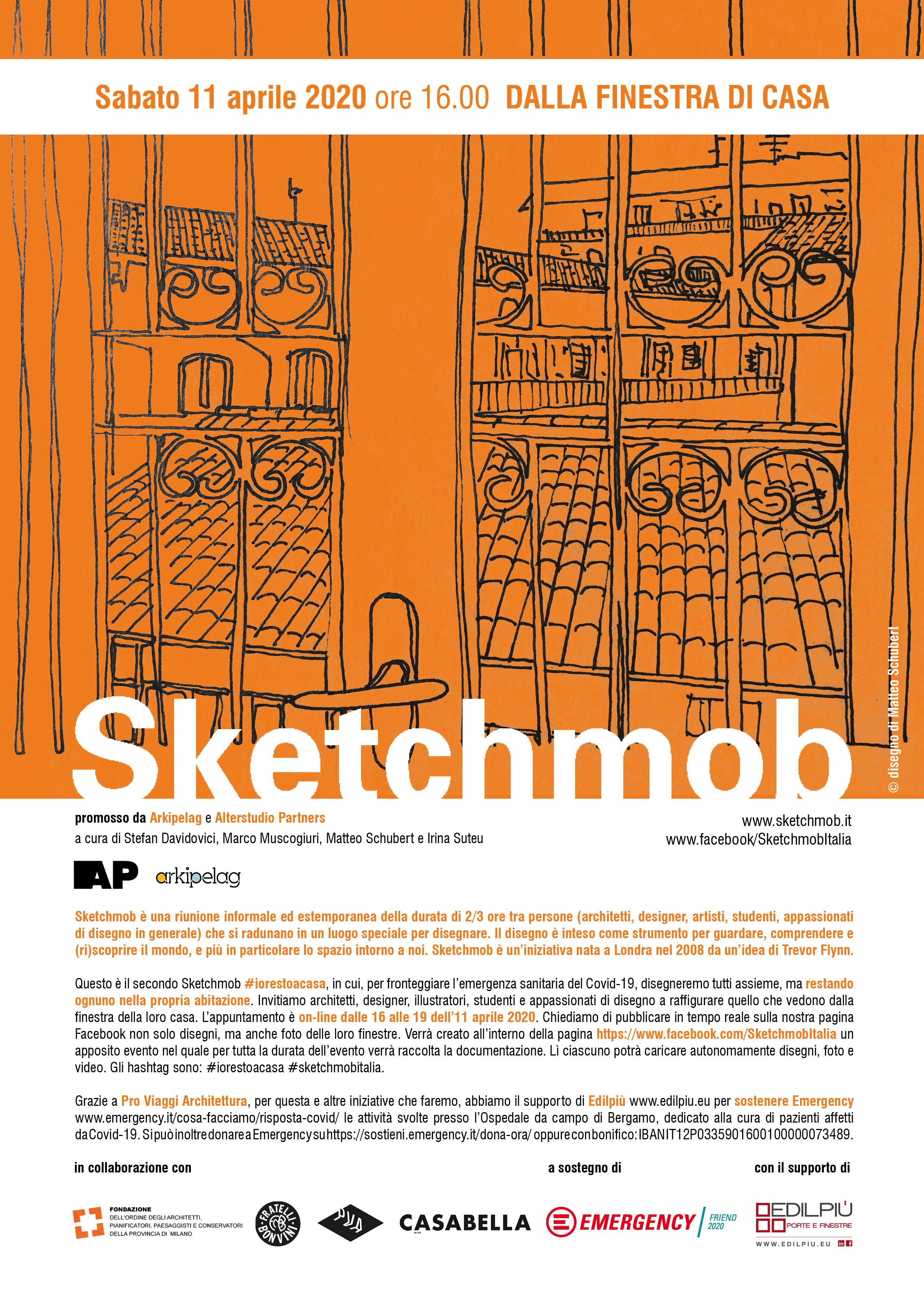 Offerte Lavoro Architetto Bergamo sketchmob, #iorestoacasa e disegno dalla finestra