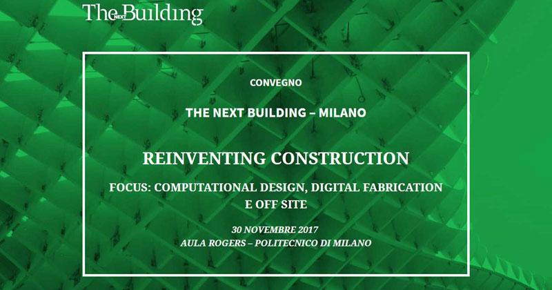 Reinventing construction reinventare il modo di costruire for Politecnico milano iscrizione
