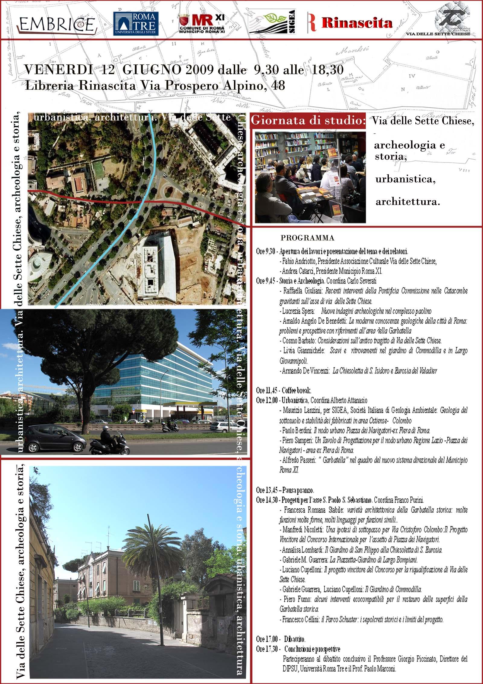 Via delle sette chiese archeologia e storia urbanistica for Programma di architettura