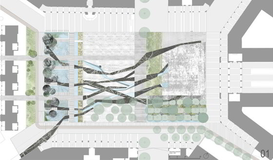 Le radici della citt nel progetto per la piazza del - Tavole di concorso architettura ...