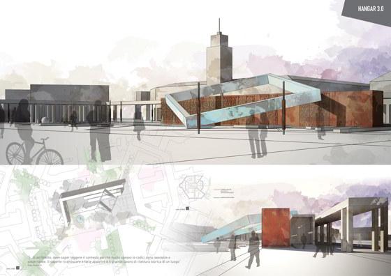 Hangar 3 0 vincitore per la sistemazione di piazza del for Architetto latina