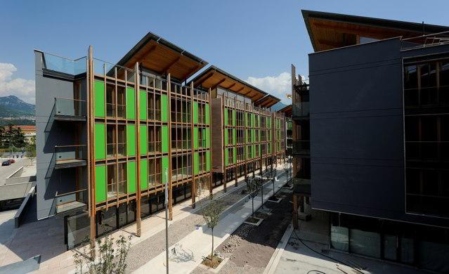 Inaugurato il quartiere le albere a trento progetto di for Progetti di renzo piano