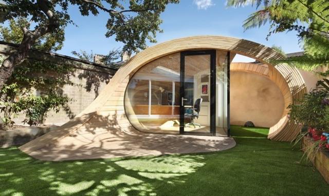 Ufficio In Giardino : Platform un ufficio ispirato al truciolo di legno