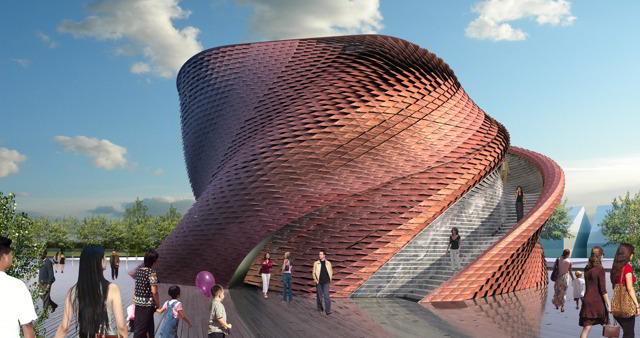 Expo 2015 pelle di drago per il vanke pavilion firmato for Costo del padiglione per piede quadrato