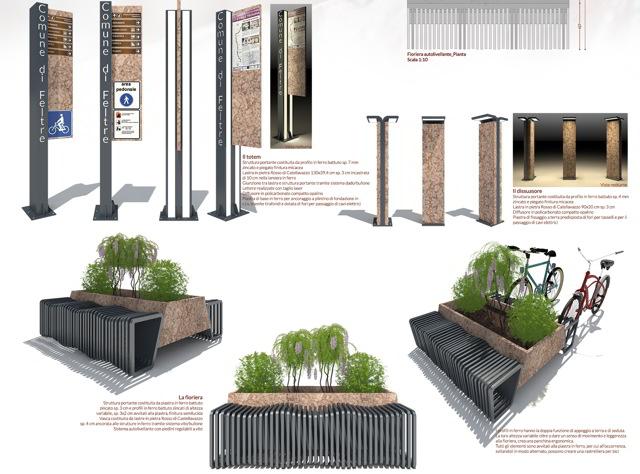 Arredo urbano un richiamo al lavoro in cava il 2 di for Oggetti di arredamento moderno