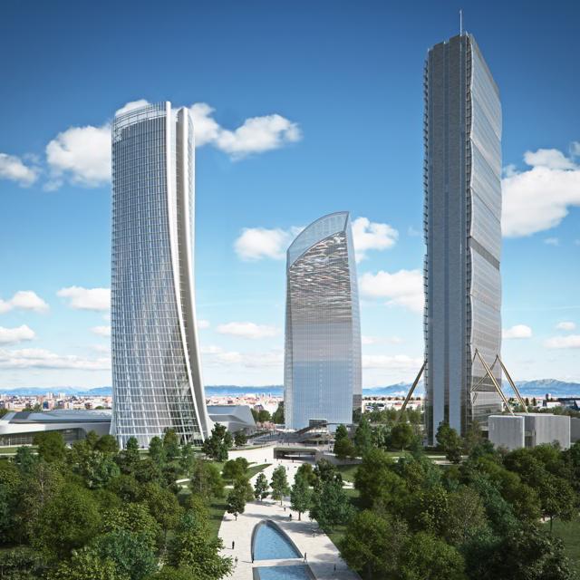 area citylife a milano raggiunto l 39 ultimo piano della torre isozaki proseguono i lavori per. Black Bedroom Furniture Sets. Home Design Ideas
