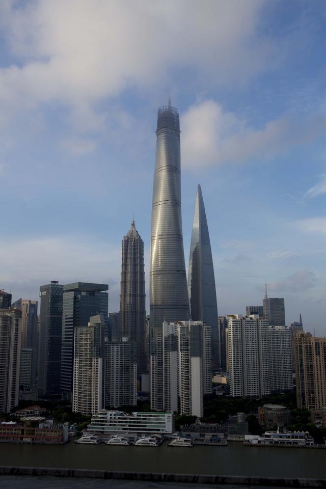 Shanghai tower in via di ultimazione il secondo - Dubai grattacielo piu alto ...