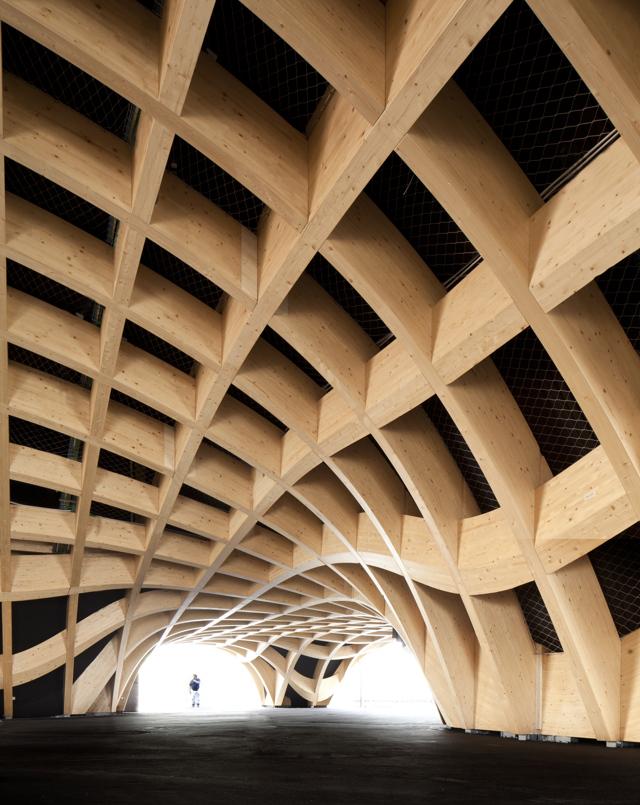 Il padiglione francese a expo 2015 legno e microalghe per for Costo del padiglione per piede quadrato
