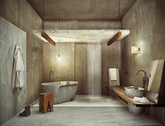 La stanza da bagno del viticoltore biodinamico vince lo for Stanza da bagno