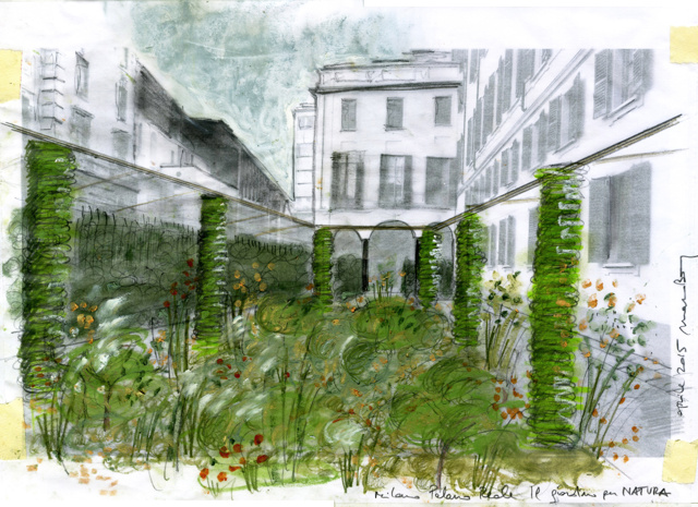 Viridarium al palazzo reale di milano un percorso verde