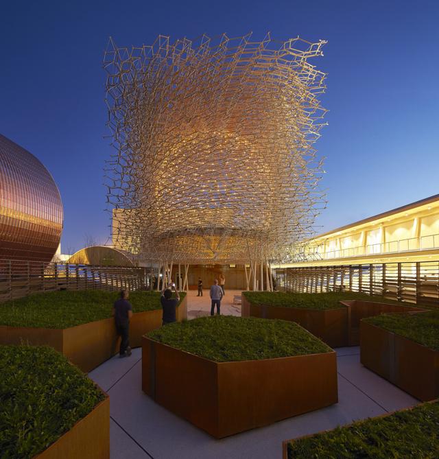Expo2015 al regno unito il premio per il miglior padiglione for Costo del padiglione per piede quadrato