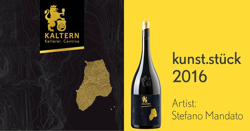 Stefano Mandato vince il Kunst.stück 2016. Il vino e il suo territorio raccontati in un'etichetta