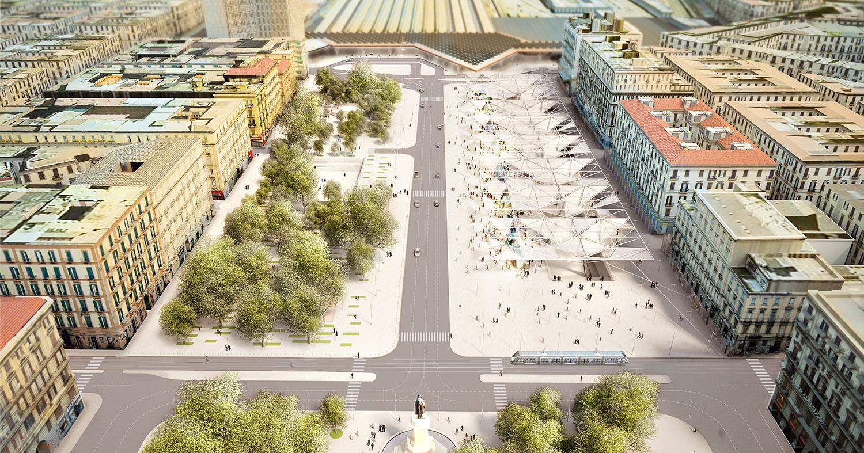 Lavoro Come Architetto Napoli napoli, riconsegnata piazza garibaldi: 60mila mq firmati