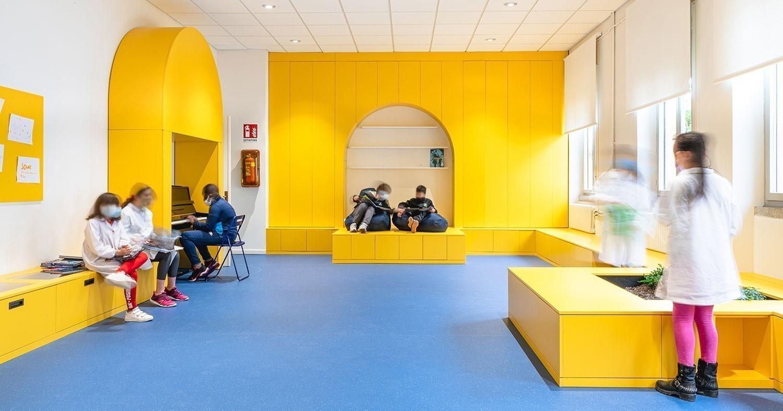 Esperimetro. La stanza colorata di Aut Aut Architettura per la scuola primaria di Udine