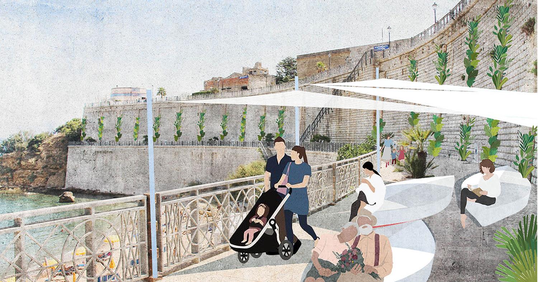 Percorsi pedonali e terrazze sul mare di Castellammare del Golfo: vince lo studio Ro.K
