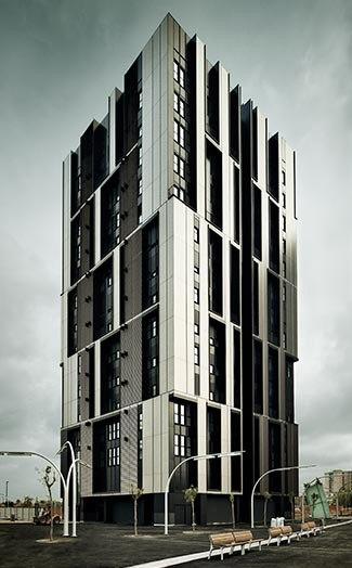 Un 39 elegante torre per alloggi sociali a barcellona for Alloggi a barcellona