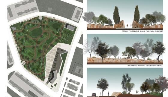 Ri u so tra i progetti premiati il parco urbano di san severo for Sezione tetto giardino