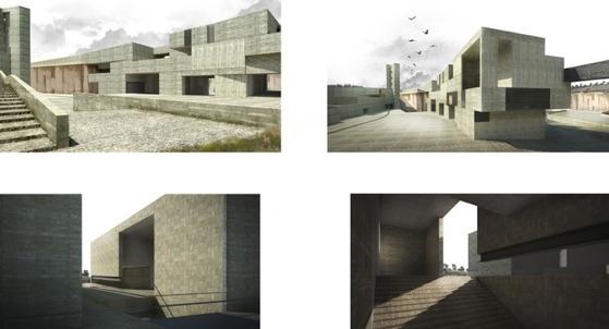 paesaggio architettura e design litici