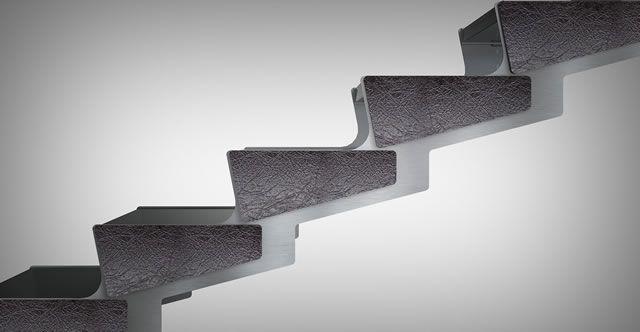 Scale in acciaio Ikona, nel segno della sostenibilità