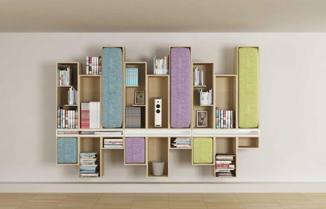 La libreria salvaspazio di LI VING design studio