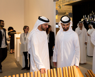 Design Days Dubai 2015_HH Sheikh Mansour at Urban Commissions booth