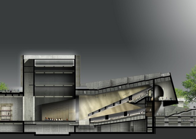 08_Render Teatro dell'Opera _ Sezione longitudinale