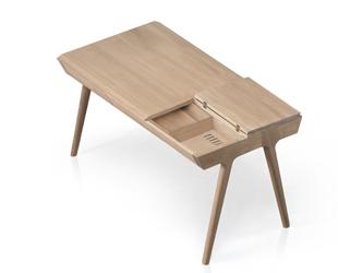 METIS desk with secret drawer white BG
