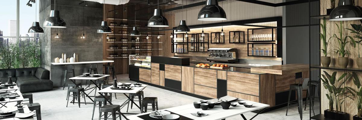Frigomeccanica l arredo bar professionale tra design e for Vendo arredo bar usato
