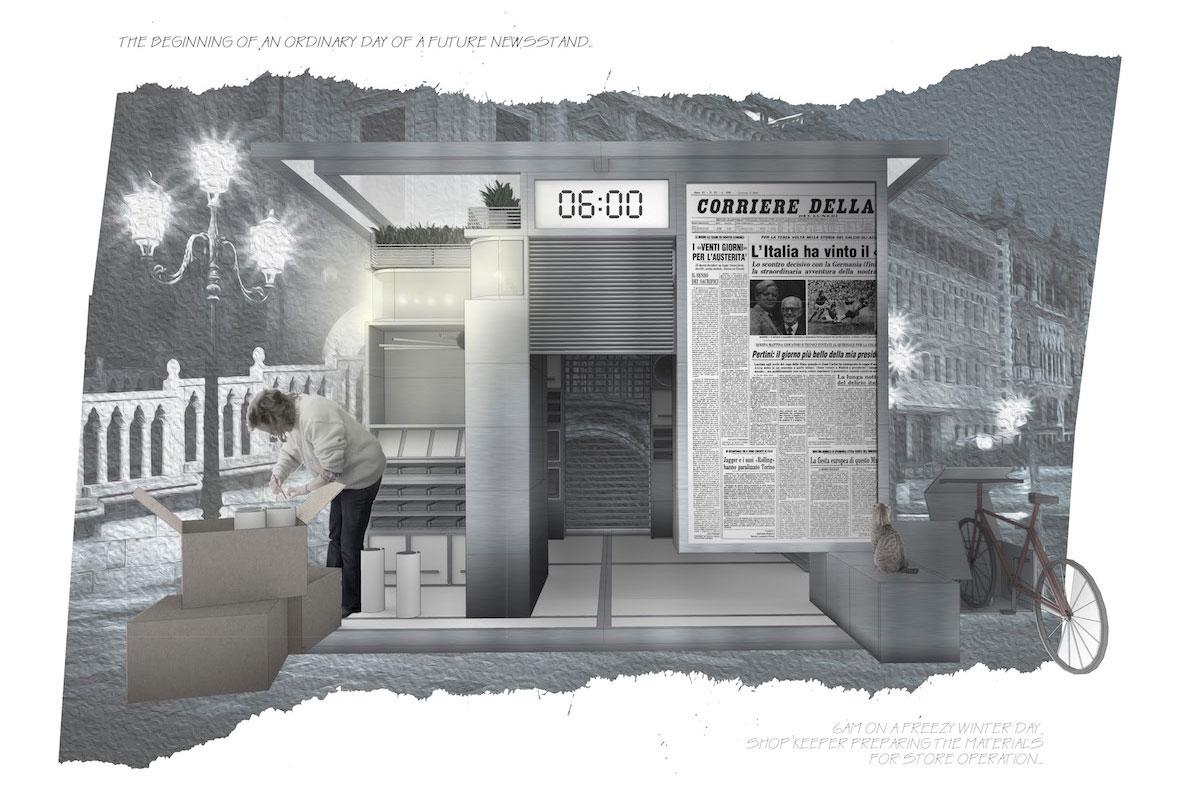 Offerte Lavoro Architetto Germania l'edicola del xxi secolo, le proposte di 7 studi di