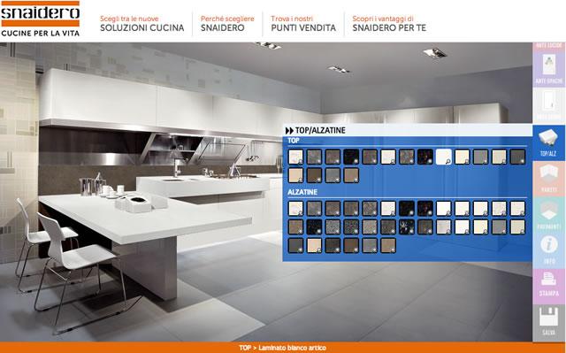 Snaidero: progetta la cucina con il configuratore – press p+A