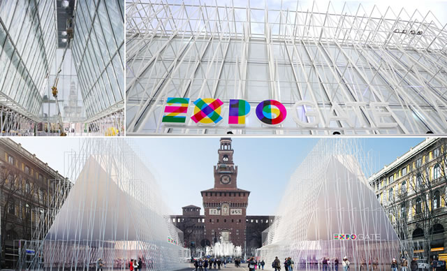 Expo gate il primo infopoint dell esposizione universale for Esposizione design milano