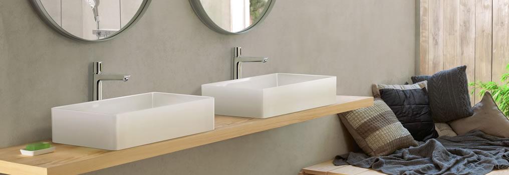 Con la rubinetteria Talis Select Hansgrohe puoi gestire il controllo del flusso dell'acqua con un tocco