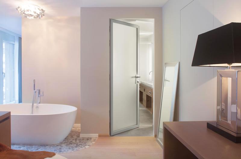porte ECLISSE Syntesis per il Matthiol Boutique Hotel 4* a Zermatt