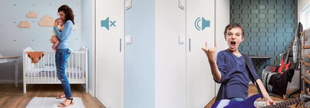 Spazio al silenzio! Eclisse Acoustic insonorizza le porte scorrevoli