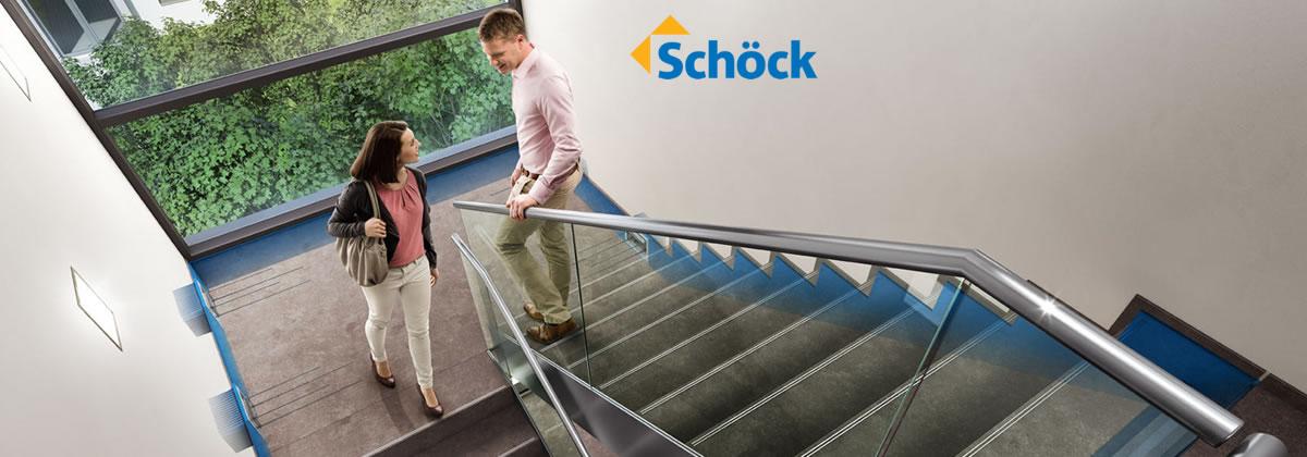 Il sistema Tronsole® di Schöck, una linea blu contro i ponti acustici per isolare perfettamente le scale in calcestruzzo