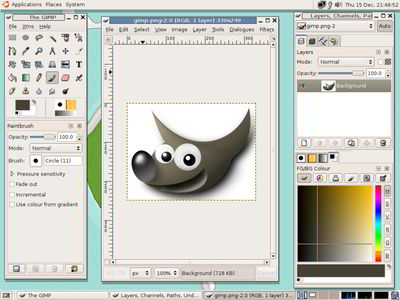 The GIMP, screenshot versione 2.8